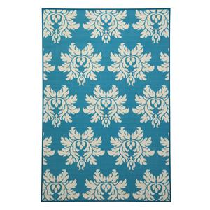 Ashley Signature Design Transitional Area Rugs Lia Turquoise Medium Rug