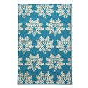 Signature Design by Ashley Transitional Area Rugs Lia Turquoise Medium Rug - Item Number: R332002