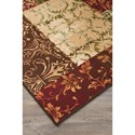 Signature Design by Ashley Transitional Area Rugs Milner Brown/Burgundy Medium Rug