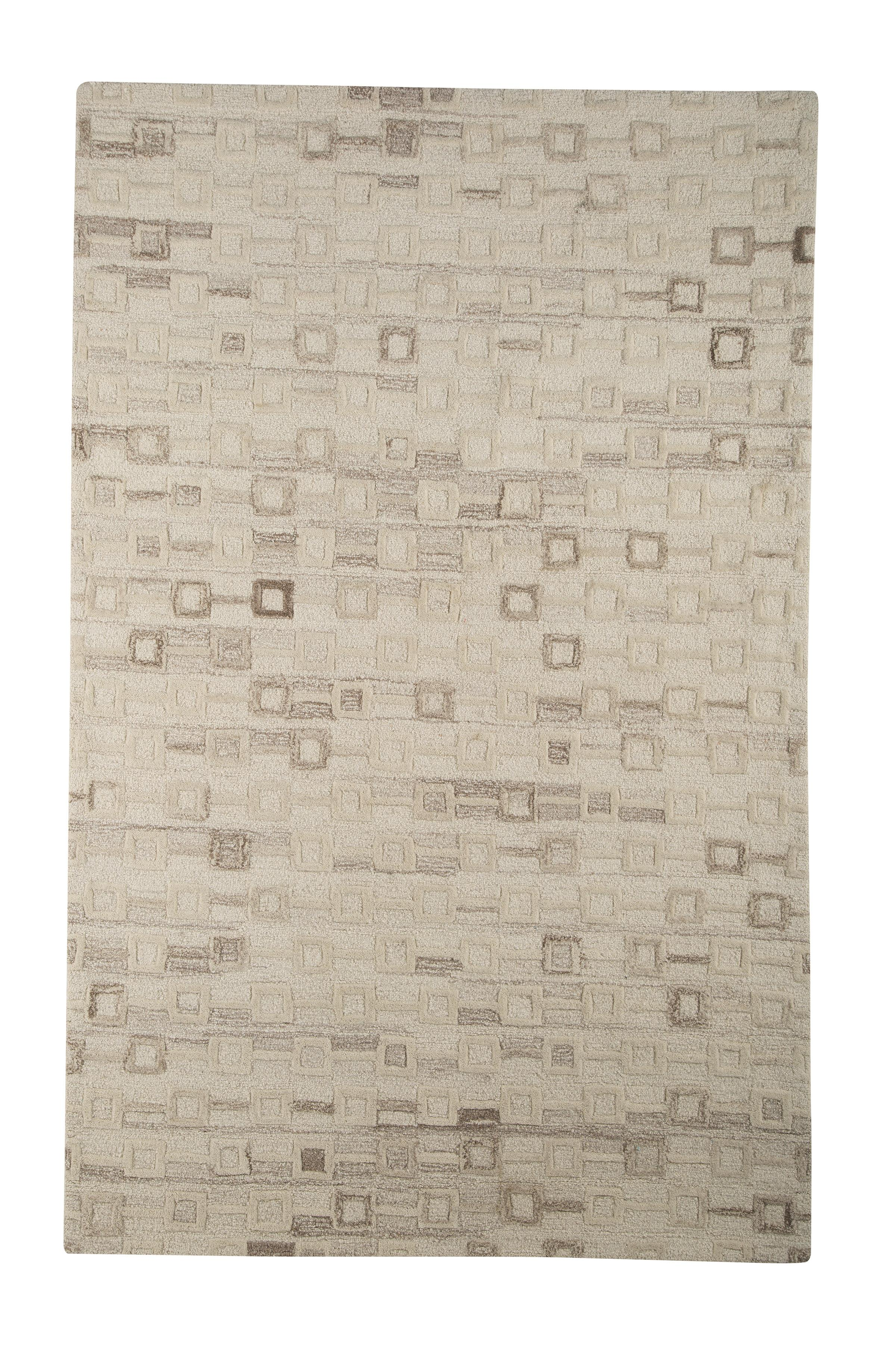 Signature Design by Ashley Transitional Area Rugs Newat Ivory Medium Rug - Item Number: R400122