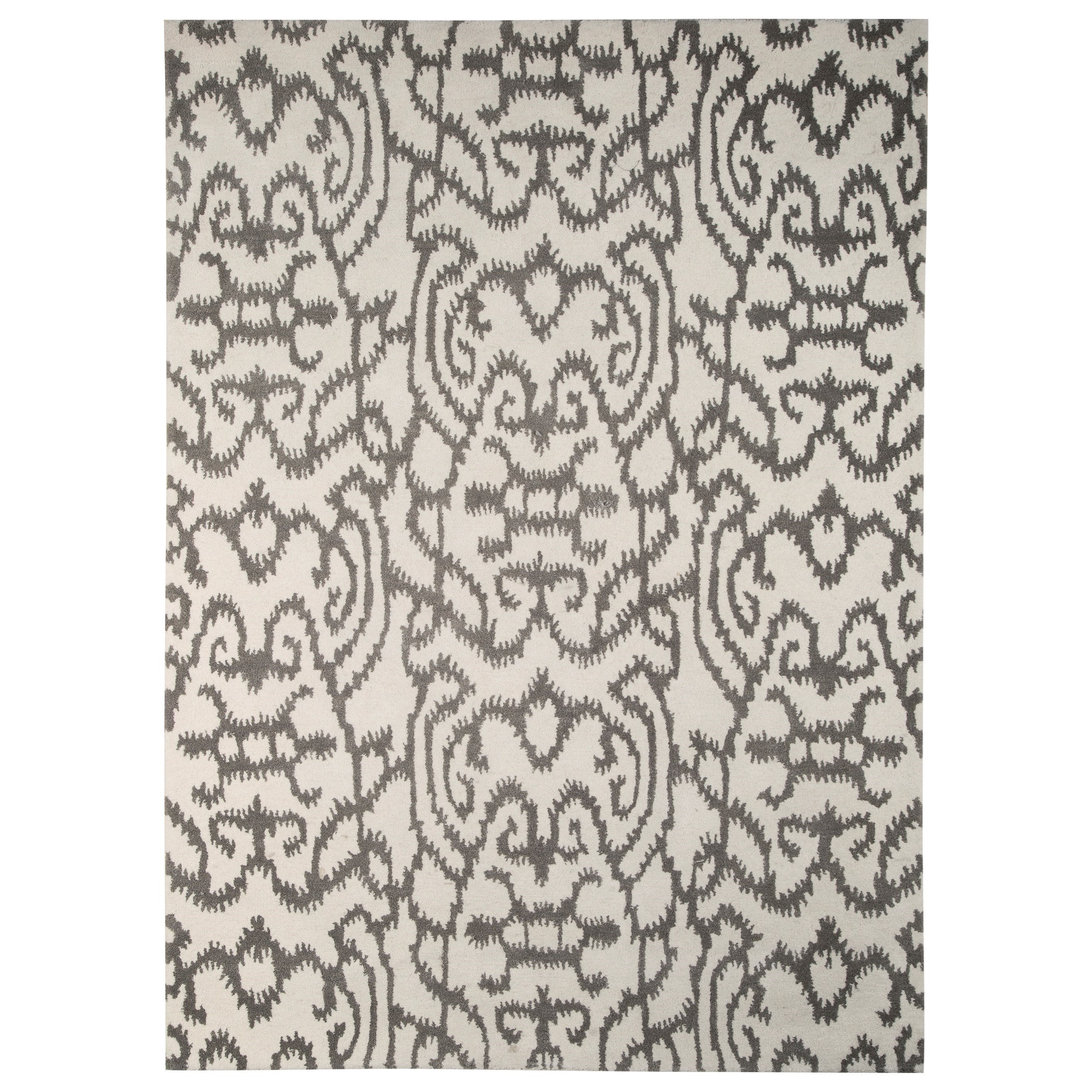 Signature Design by Ashley Transitional Area Rugs Benbrook Gray/Ivory Large Rug - Item Number: R400301