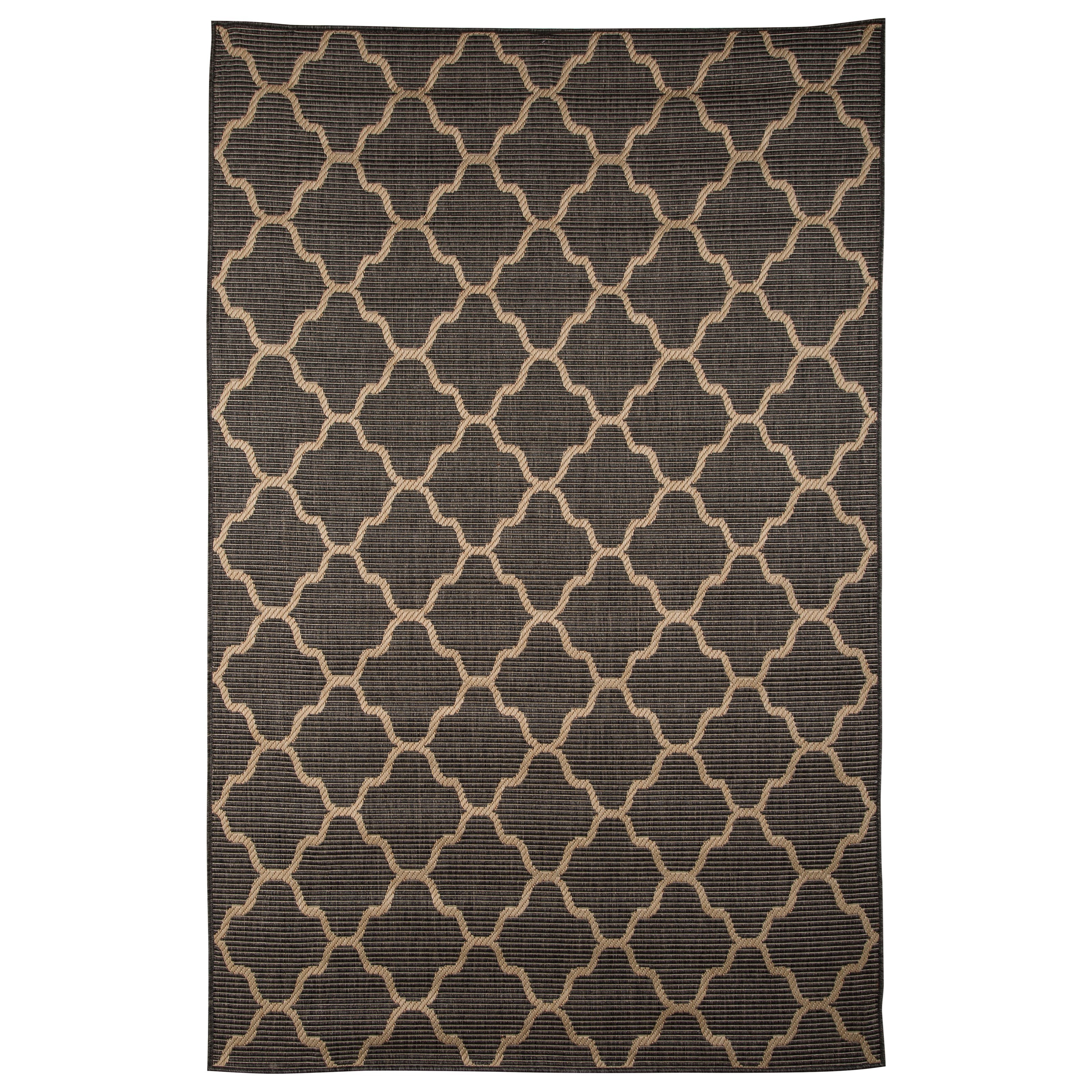 Signature Design by Ashley Transitional Area Rugs Daponte Gray Large Rug - Item Number: R400381