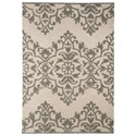 Signature Design by Ashley Transitional Area Rugs Bafferts Tan/Gray Medium Rug - Item Number: R400442