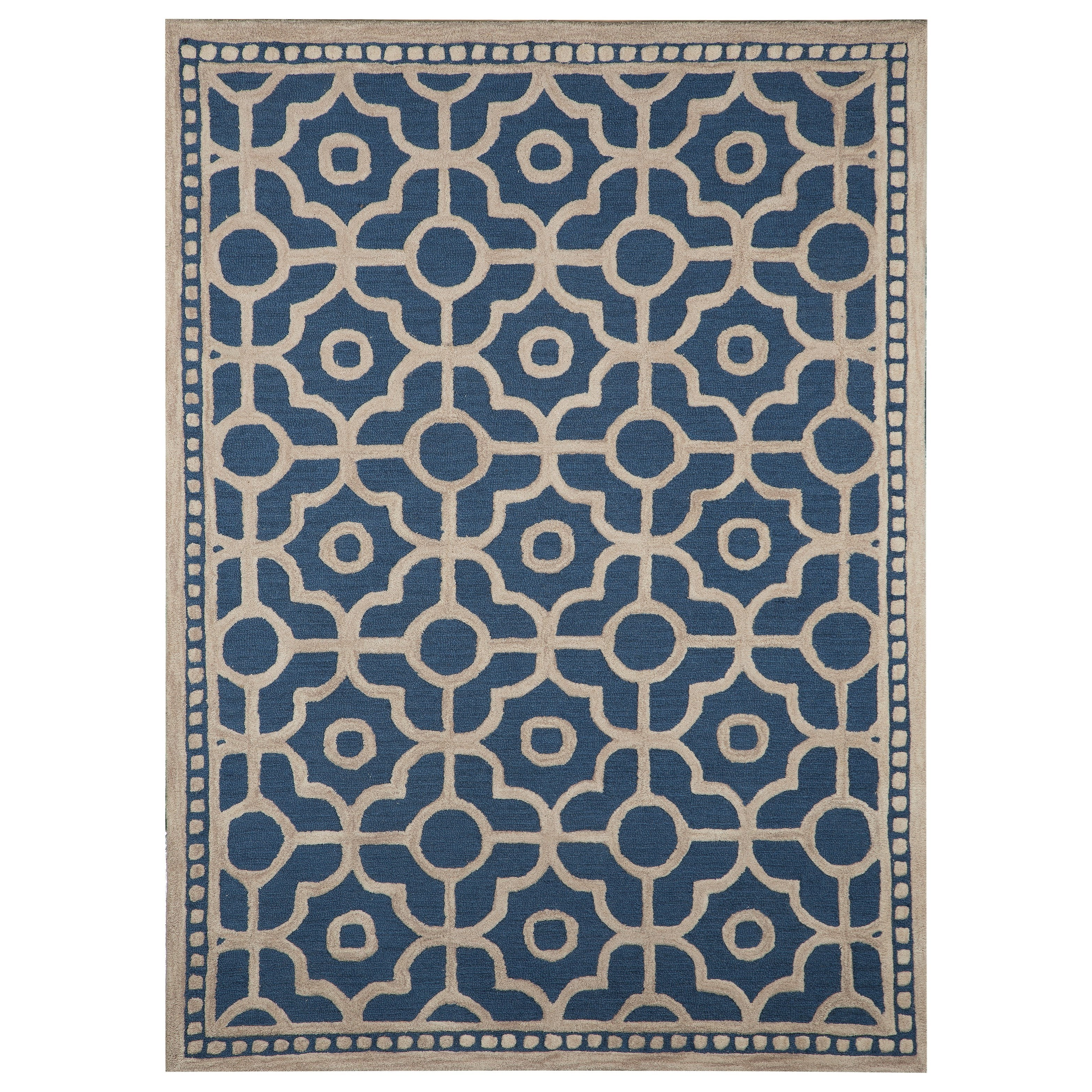 Signature Design by Ashley Transitional Area Rugs Bisbee Blue Medium Rug - Item Number: R400452