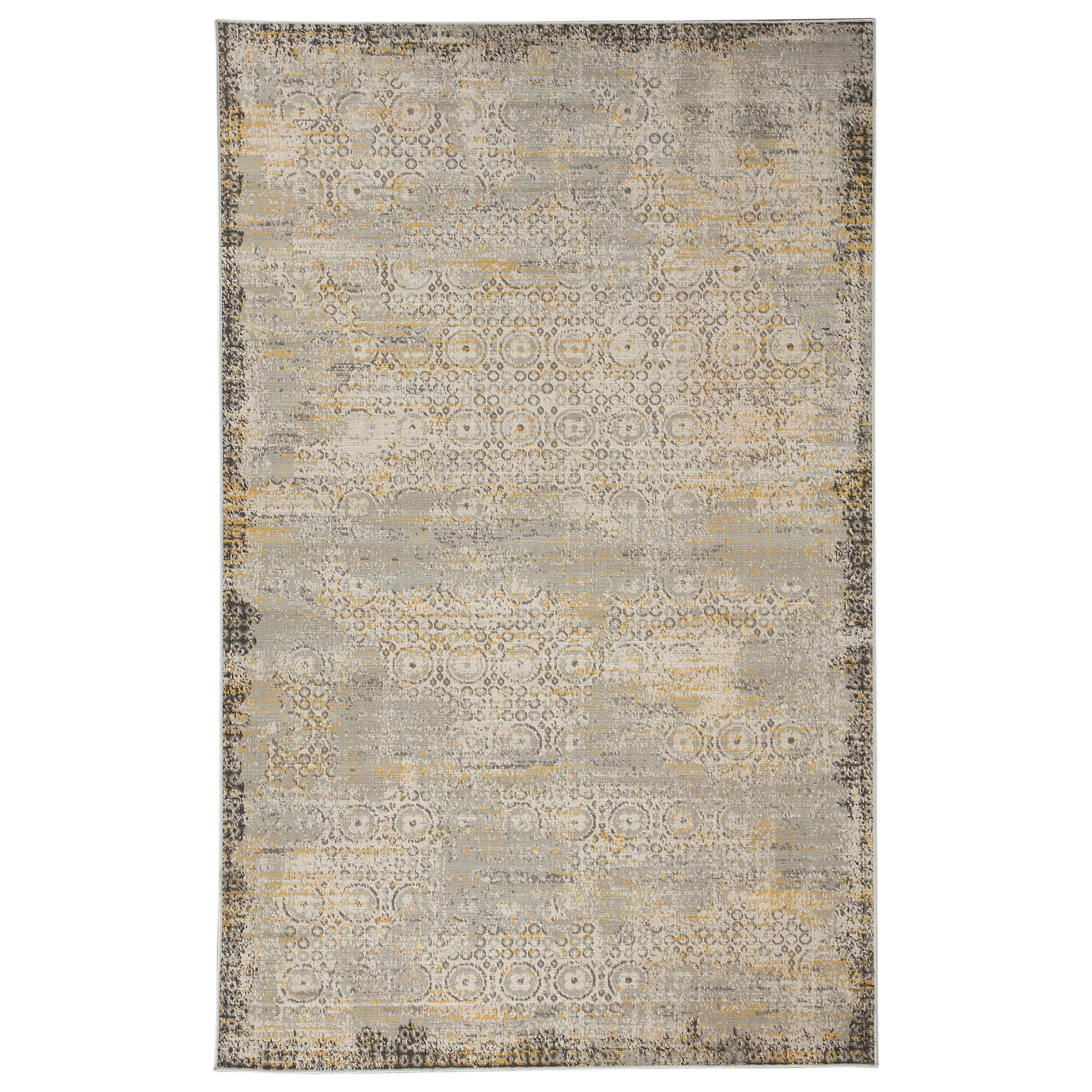 Signature Design by Ashley Transitional Area Rugs Dallon Silver Medium Rug - Item Number: R400462