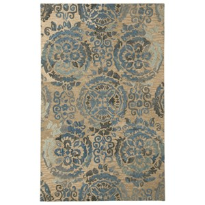 Signature Design by Ashley Transitional Area Rugs Alazne Blue/Ivory Large Rug