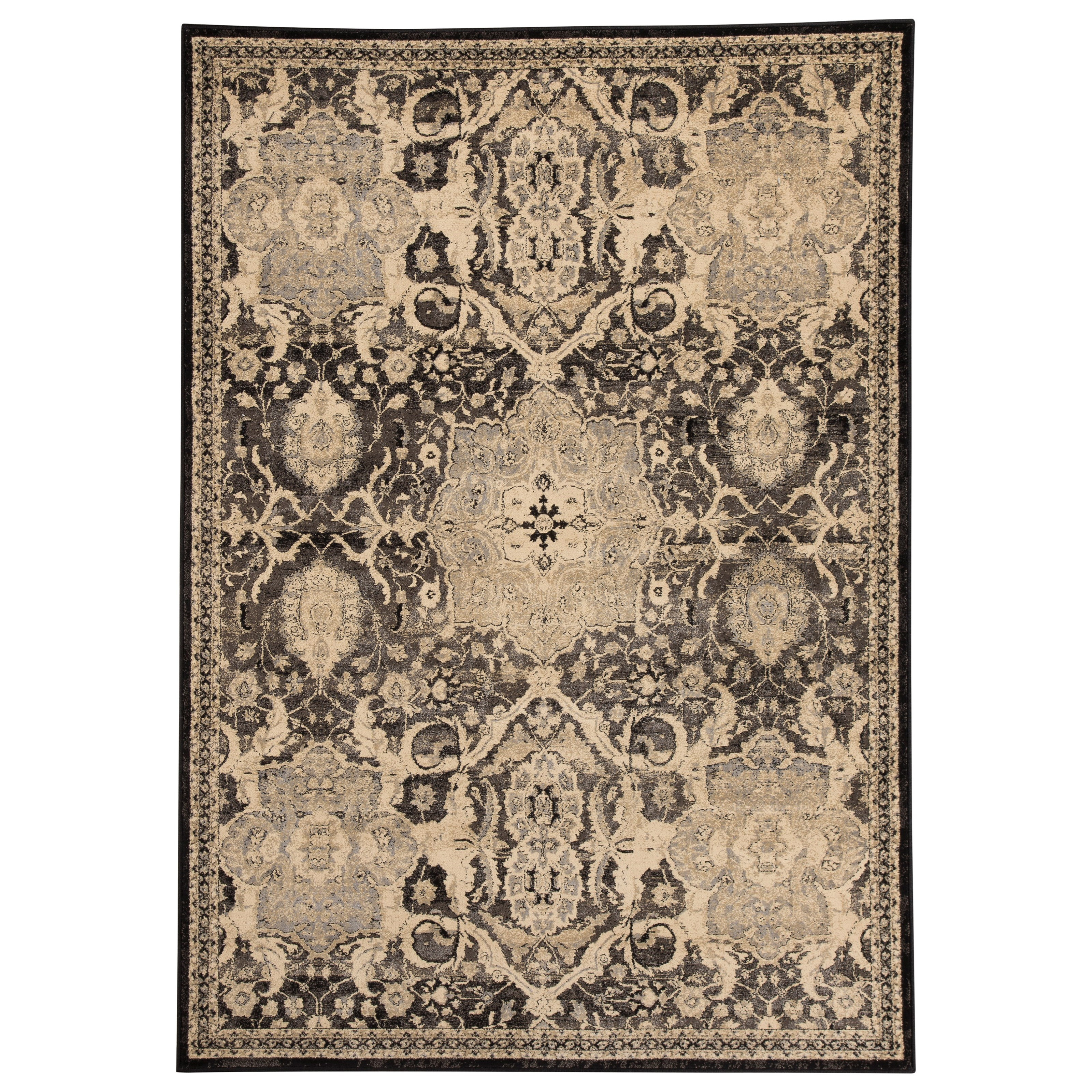Signature Design by Ashley Transitional Area Rugs Anzhell - Black Large Rug - Item Number: R401051