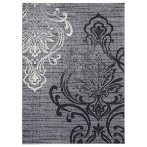 Signature Design by Ashley Transitional Area Rugs Verrill Gray/Black Medium Rug
