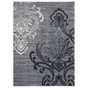 Signature Design by Ashley Transitional Area Rugs Verrill Gray/Black Large Rug - Item Number: R401241