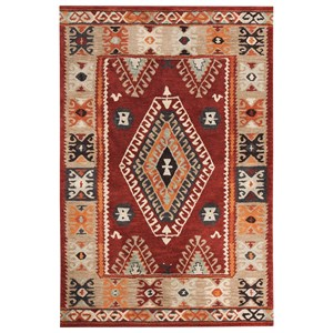 Signature Design by Ashley Transitional Area Rugs Oisin Brick Medium Rug