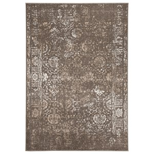 Signature Design by Ashley Transitional Area Rugs Patras Brown Medium Rug