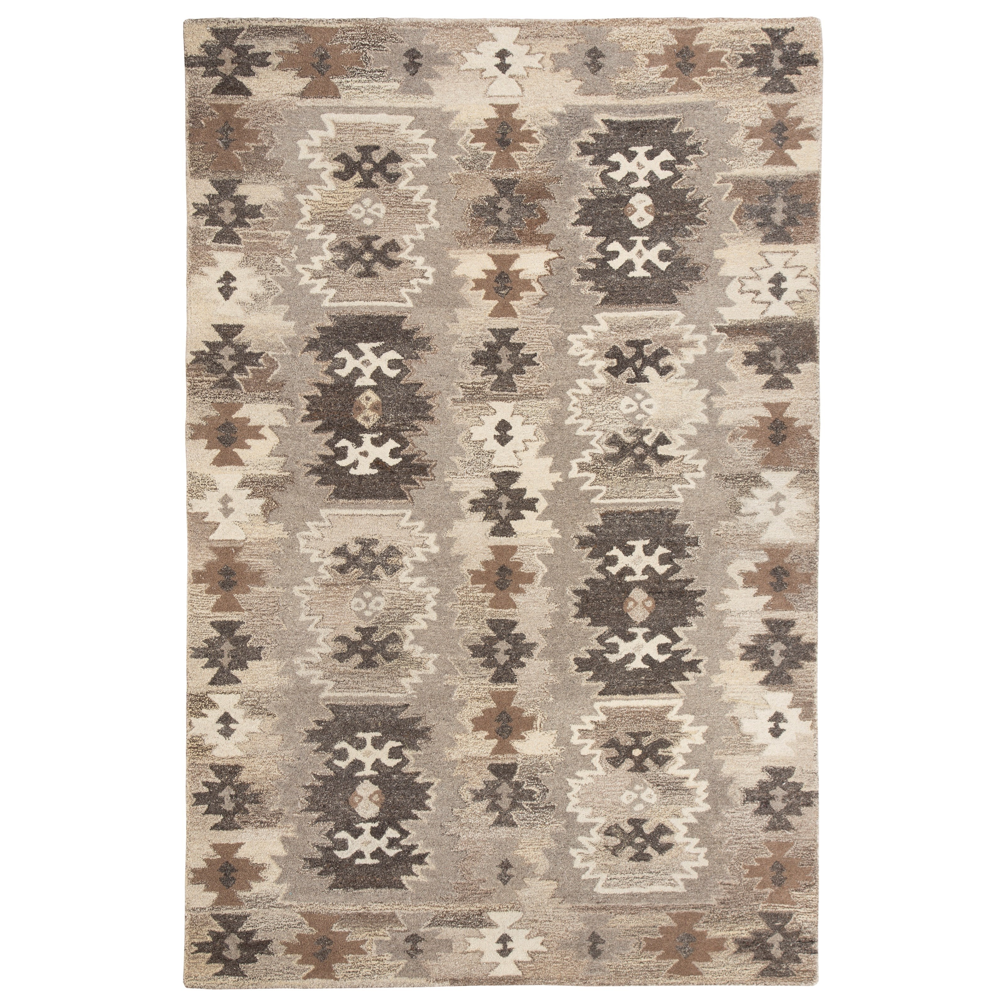 Signature Design by Ashley Transitional Area Rugs Porcinni Gray Large Rug - Item Number: R401521