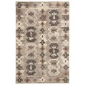 Signature Design by Ashley Transitional Area Rugs Porcinni Gray Medium Rug - Item Number: R401522