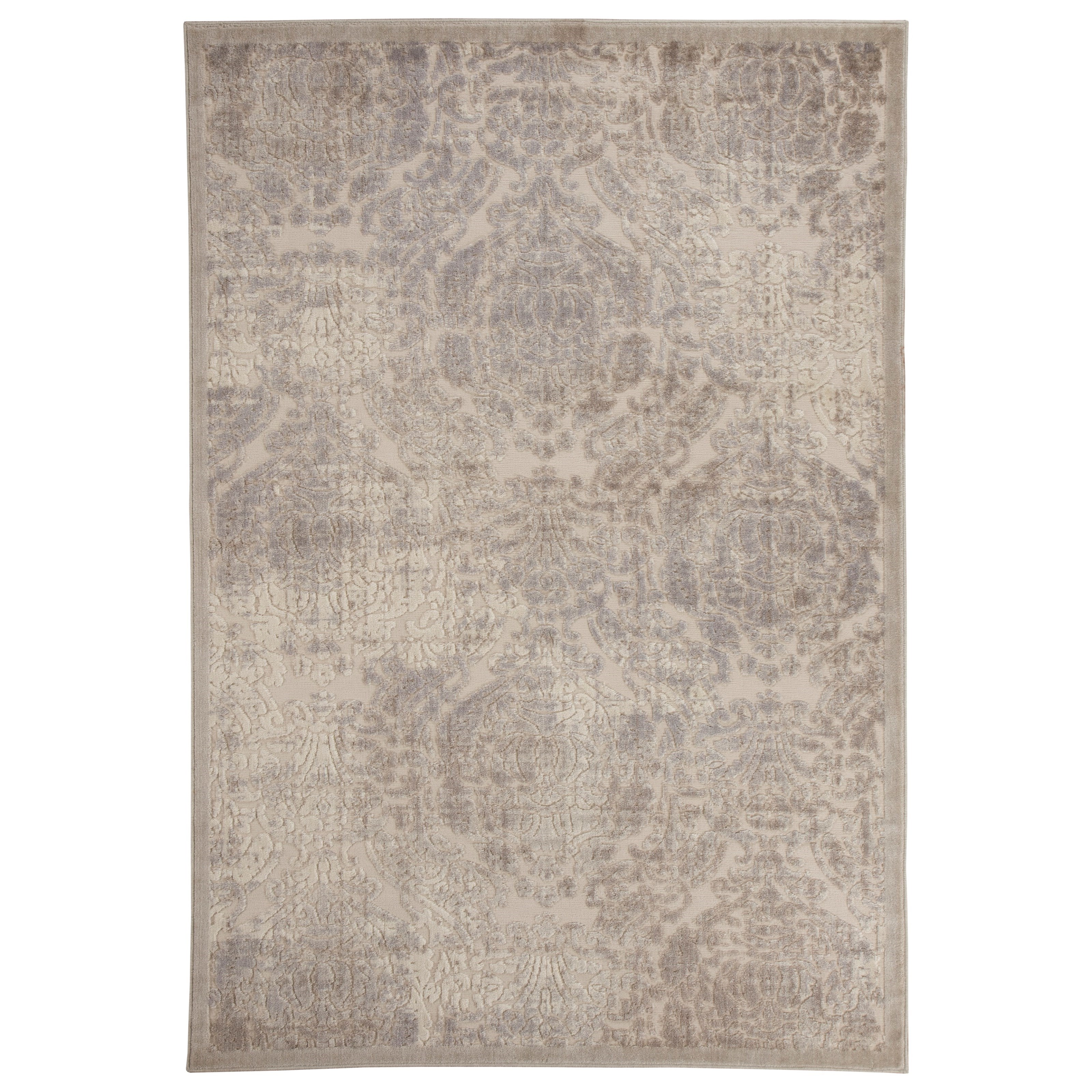 Signature Design by Ashley Transitional Area Rugs Fulci Cream Medium Rug - Item Number: R401712