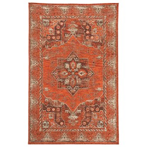 Signature Design by Ashley Transitional Area Rugs Dalit Rust Medium Rug