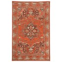Signature Design by Ashley Transitional Area Rugs Dalit Rust Medium Rug - Item Number: R401922