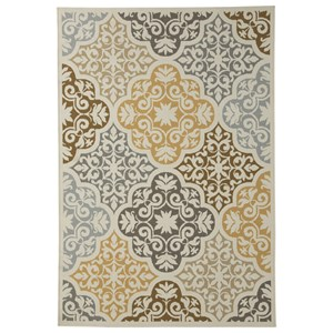 Signature Design by Ashley Transitional Area Rugs Lacy Brown/Gold Large Rug