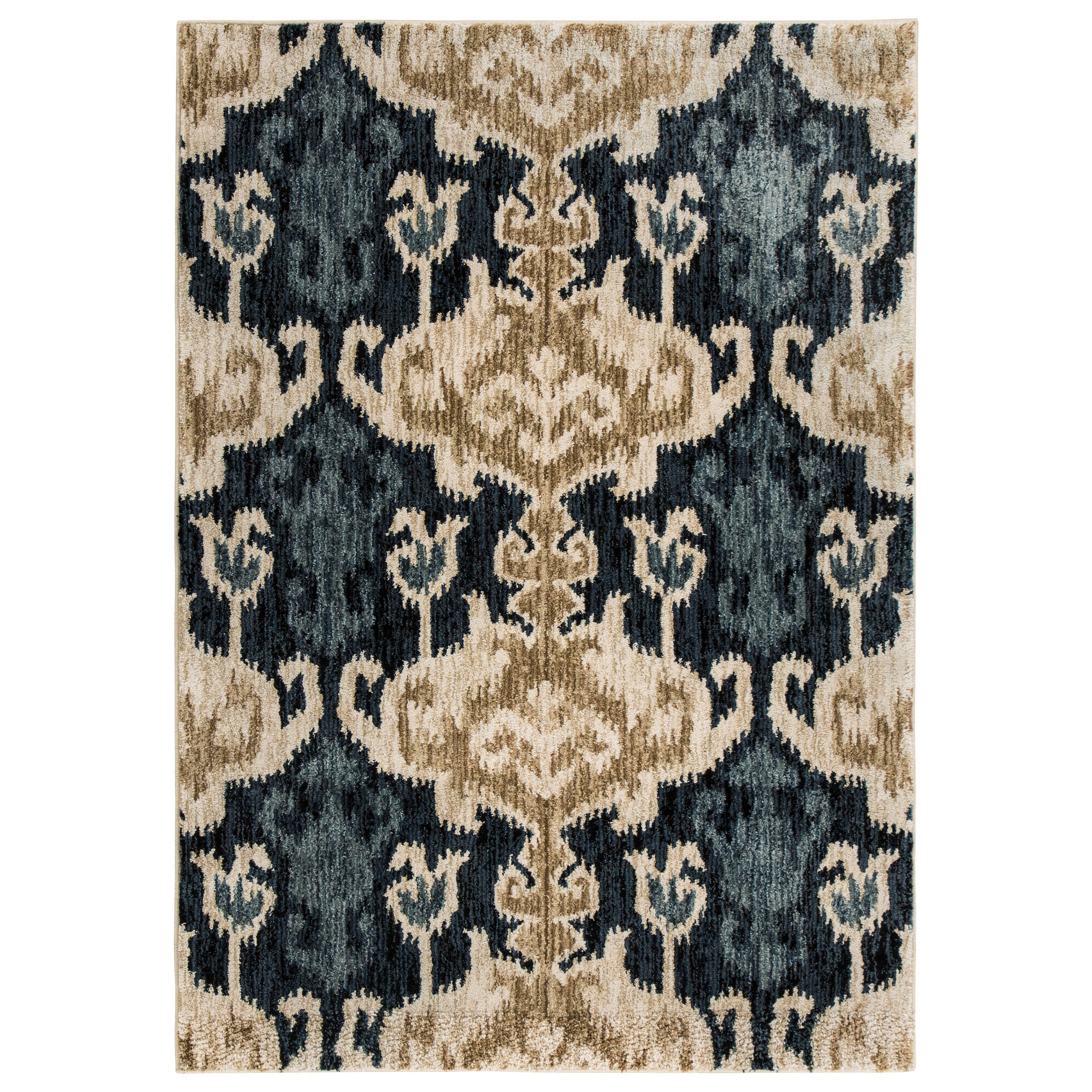 Signature Design by Ashley Transitional Area Rugs Saville Blue/Brown Large Rug - Item Number: R402731