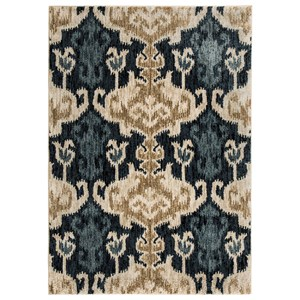 Signature Design by Ashley Transitional Area Rugs Saville Blue/Brown Large Rug