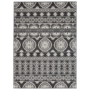 Signature Design by Ashley Transitional Area Rugs Jicarilla Black/White Medium Rug