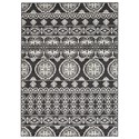 Signature Design by Ashley Transitional Area Rugs Jicarilla Black/White Large Rug - Item Number: R403141