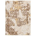 Signature Design by Ashley Transitional Area Rugs Jariath Ivory/Brown Medium Rug - Item Number: R403182