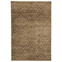 Signature Design by Ashley Transitional Area Rugs Jette Tan/Brown Medium Rug - Item Number: R403542