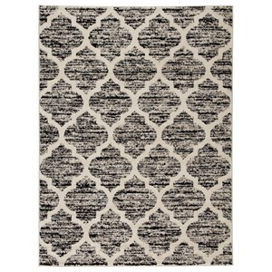 Kaila Black/Cream/Gray Large Rug