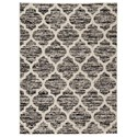 Signature Design by Ashley Transitional Area Rugs Kaila Black/Cream/Gray Large Rug - Item Number: R403901