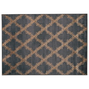 Natalius Black/Gold Large Rug