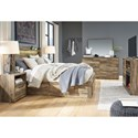 Signature Design by Ashley Rusthaven Rustic Modern Queen Storage Bed