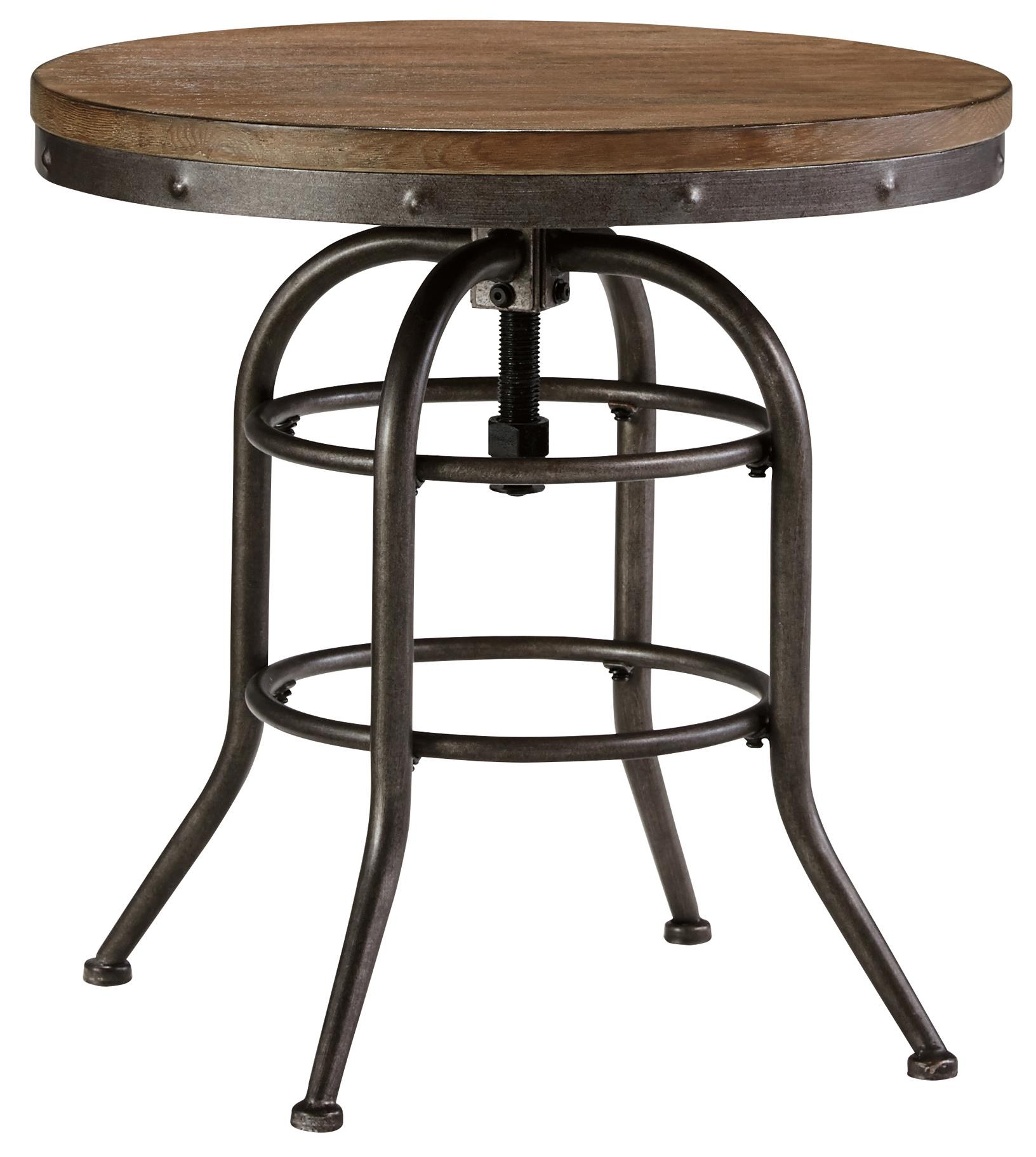 Signature Design by Ashley Vennilux Round End Table - Item Number: T500-726