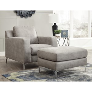 Signature Design by Ashley Ryler Chair and Ottoman