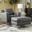 Signature Design by Ashley Ryler Chair and Ottoman - Item Number: 4020320+14