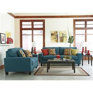 Signature Design by Ashley Sagen Sofa, Loveseat, and 3 Tables