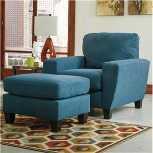 Ashley (Signature Design) Sagen Chair & Ottoman