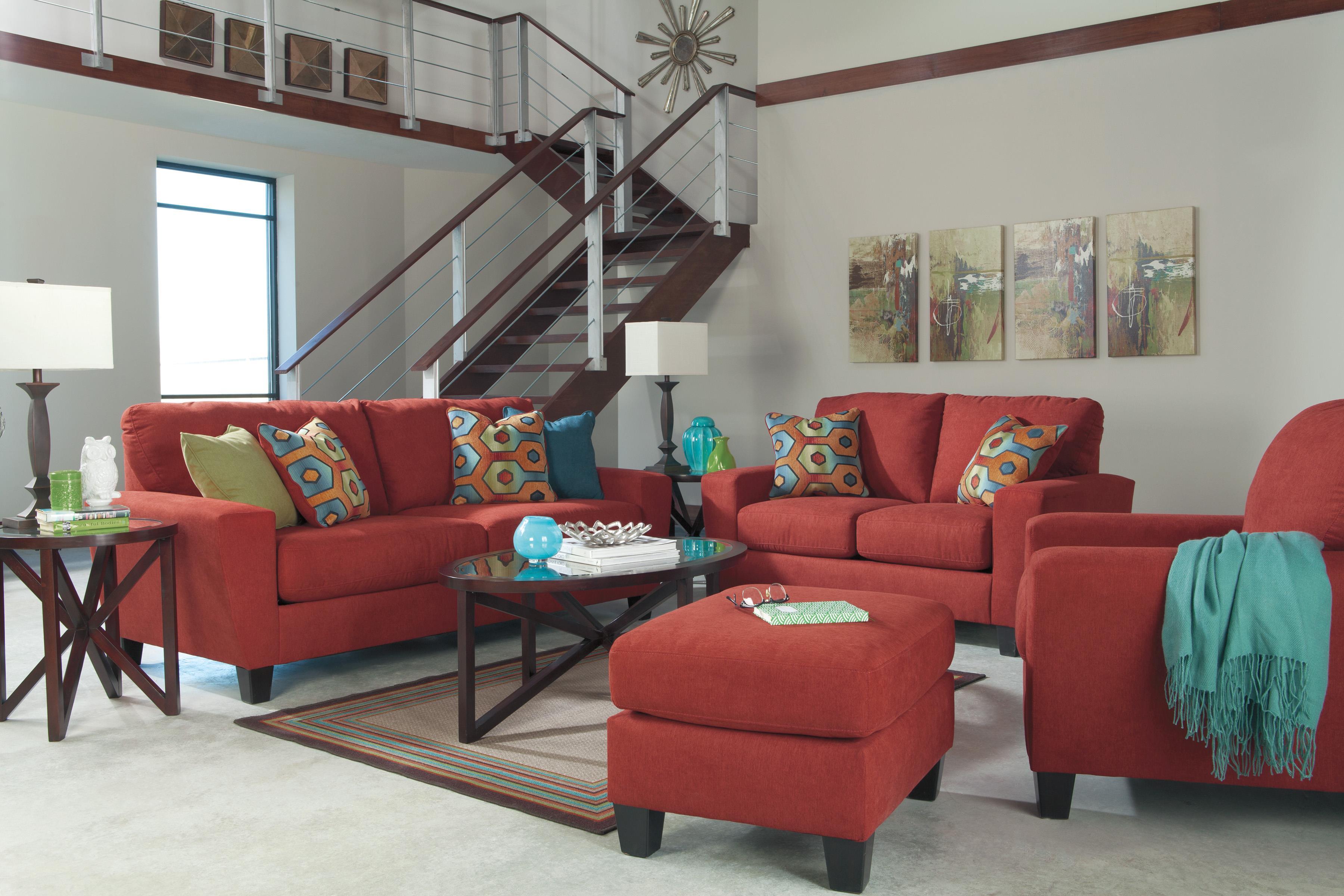 Signature Design By Ashley Sagen Stationary Living Room Group   Item  Number: 93903 Living Room