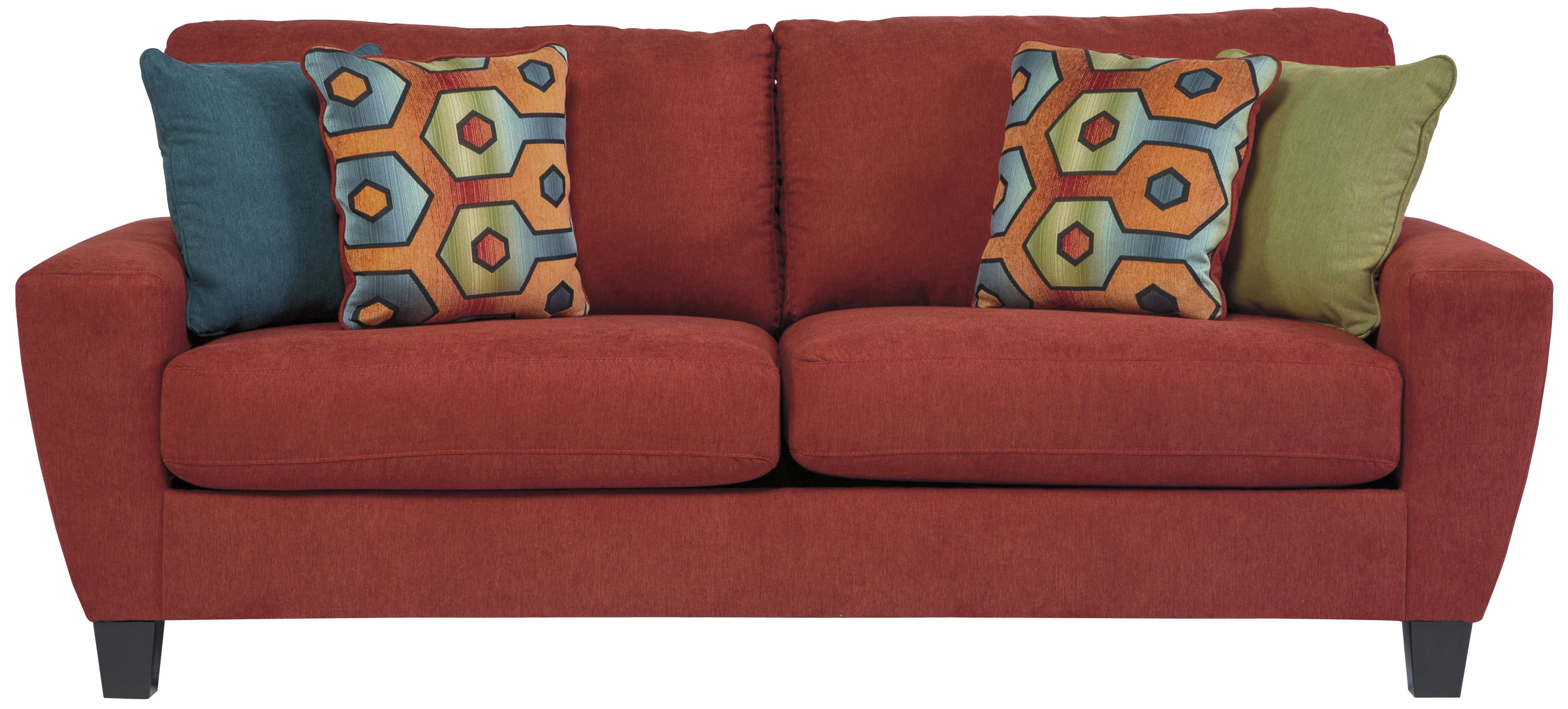 Signature Design By Ashley Sagen Contemporary Sofa With Shaped Track Arms Michael 39 S Furniture