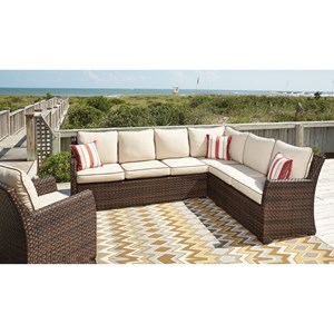 Signature Design by Ashley Salceda Outdoor 2-Piece Sectional & Lounge Chair Set