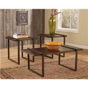 Signature Design by Ashley Furniture Salyersville Occasional Table Set
