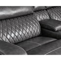Signature Design by Ashley Samperstone Transitional Power Reclining Sectional Sofa with Storage Console