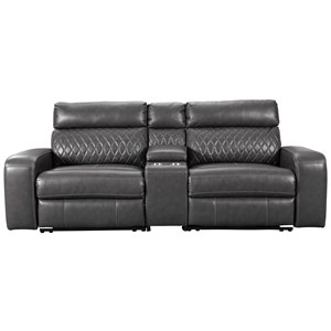 Signature Design by Ashley Samperstone Power Reclining Loveseat