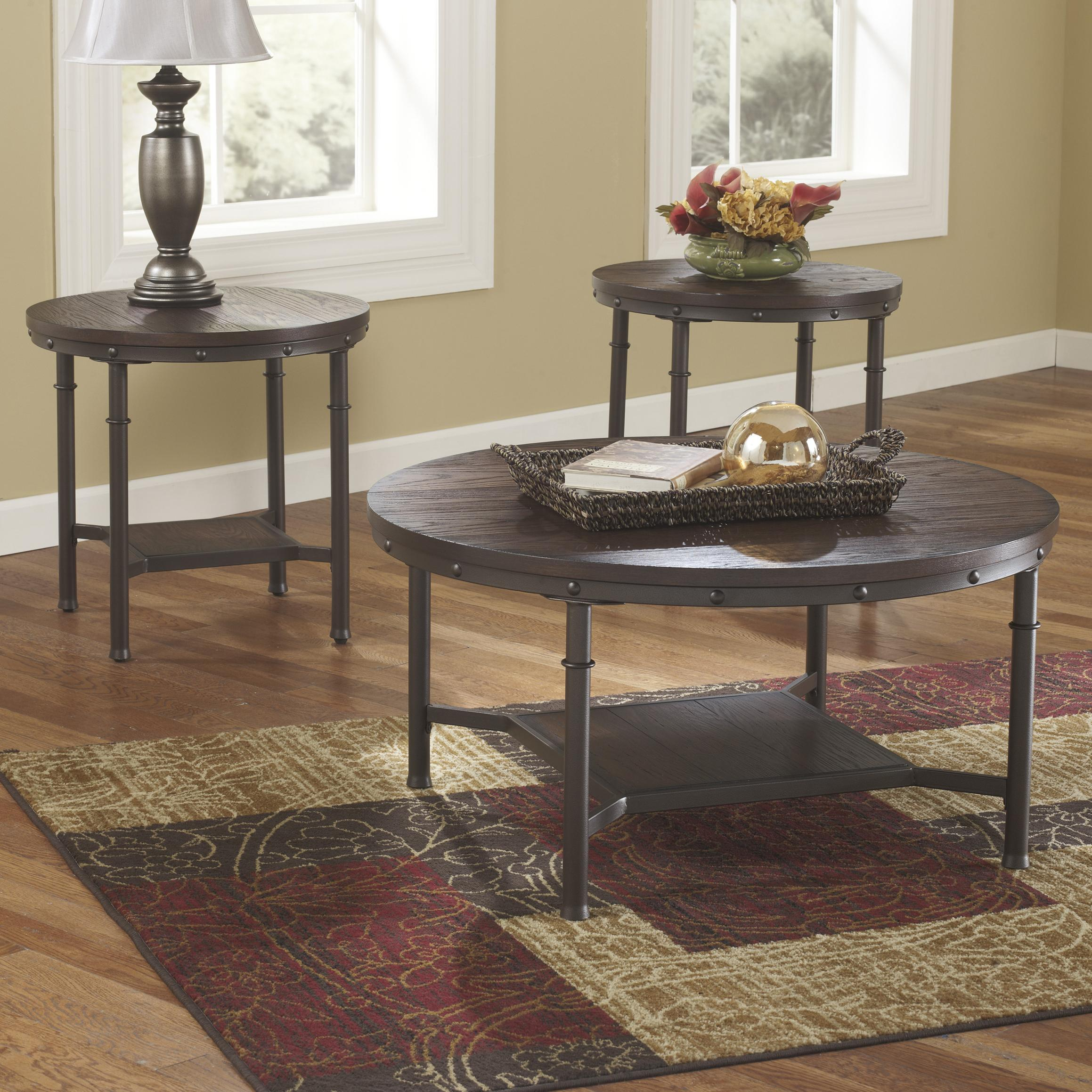 Signature Design by Ashley Sandling Occasional Table Set - Item Number: T277-13