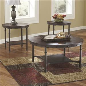 Signature Design by Ashley Sandling Occasional Table Set