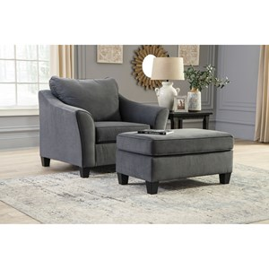 Chair and a Half and Ottoman