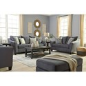 Signature Design by Ashley Sanzero Queen Sleeper Sofa with Flare Track Arms