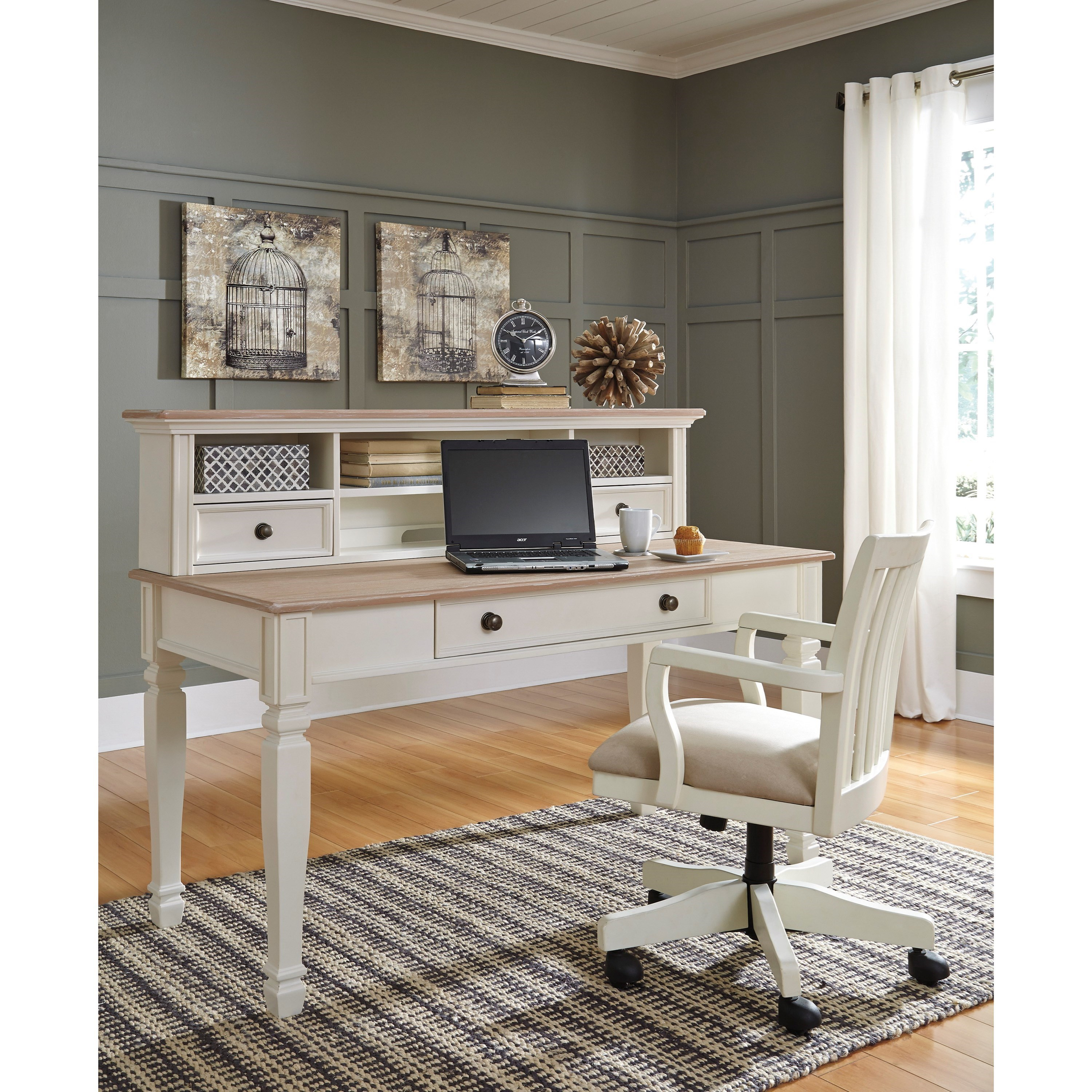Signature design by ashley sarvanny home office large leg for Signature home designs