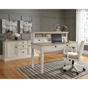 Signature Design by Ashley Sarvanny Two-Tone Home Office Large Leg Desk with Drawer
