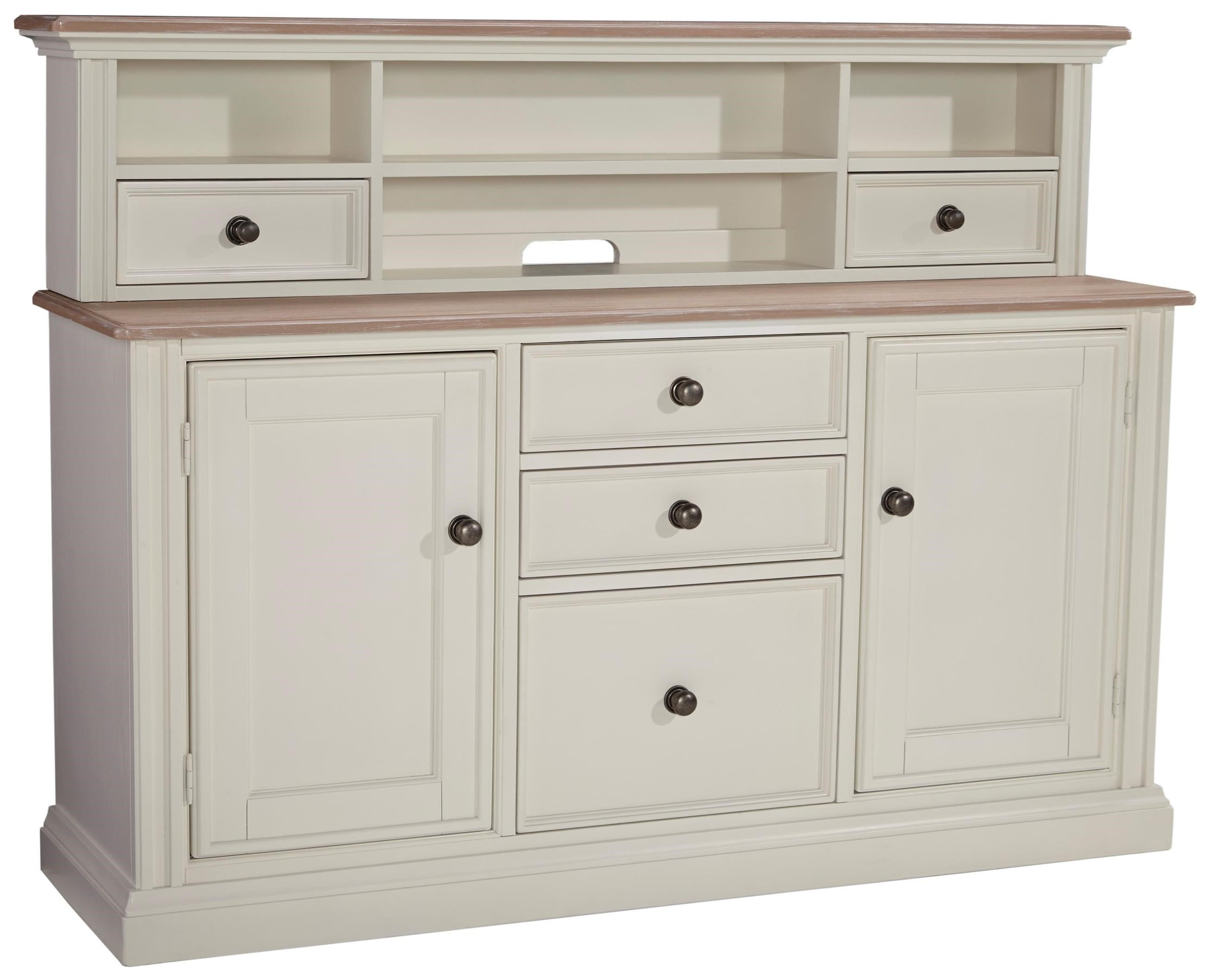 Signature Design by Ashley Sarvanny Large Credenza & Short Hutch - Item Number: H583-46+48