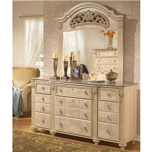 Signature Design by Ashley Saveaha Dresser and Mirror Set